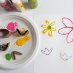 Paper Tube Flower Stamps