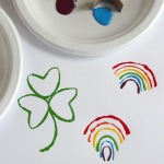 St. Patrick's Paper Tube Stamps