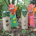 Leaf People Finger Puppets