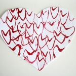 Paper Tube Heart Stamps
