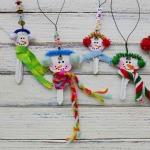 Snowman Recycled Keys
