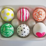 Neon Puffy Paint Eggs