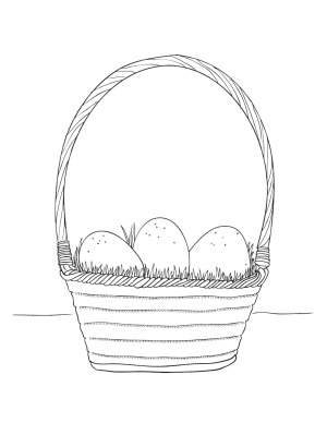 easter egg coloring page easter egg basket