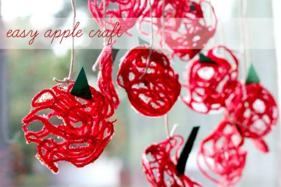 easy-apple-craft-yarn-kids