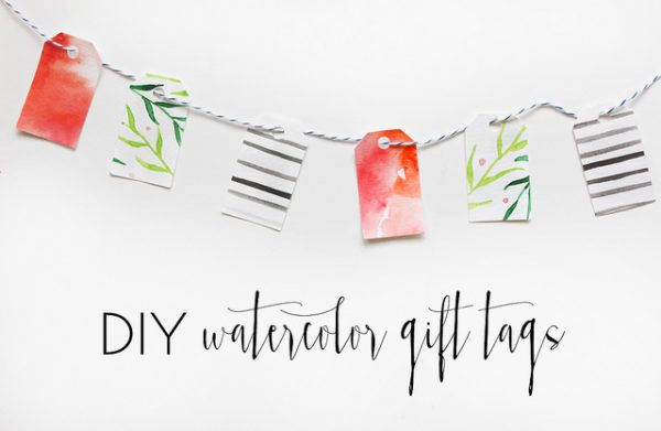 DIY Sweet and Simple Watercolor Gift Tags