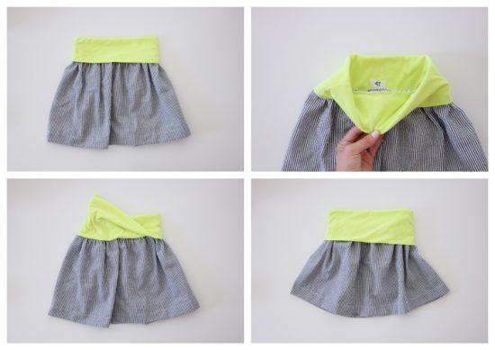 Basic Flexible Waist Skirt