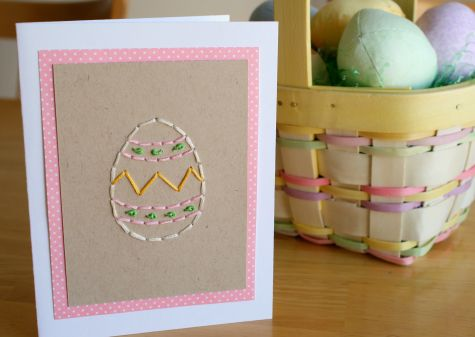Easter Egg Stitched Greeting Card