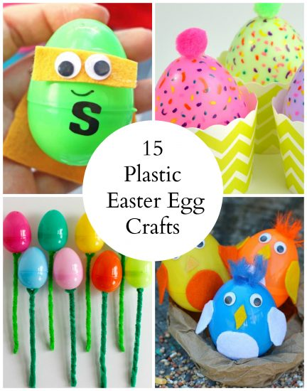 15 Colorful Plastic Egg Easter Crafts