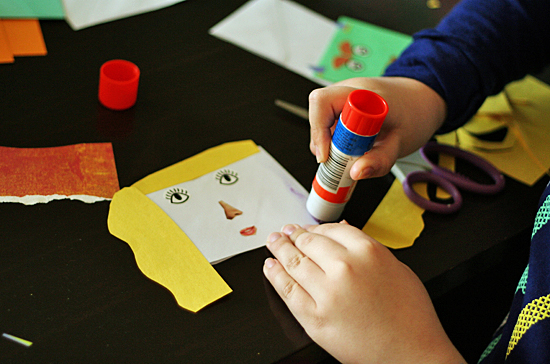 Envelope Hand Puppets Making