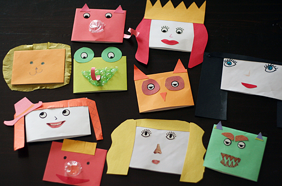 Envelope Hand Puppets