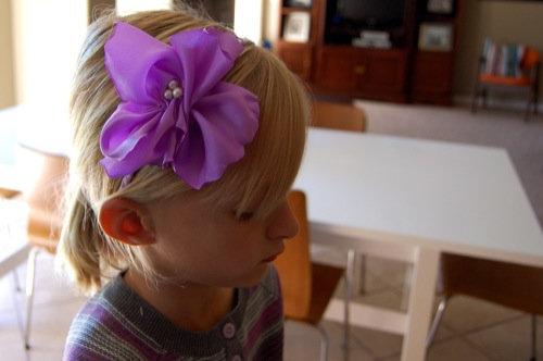 DIY Fabric Flower Headband