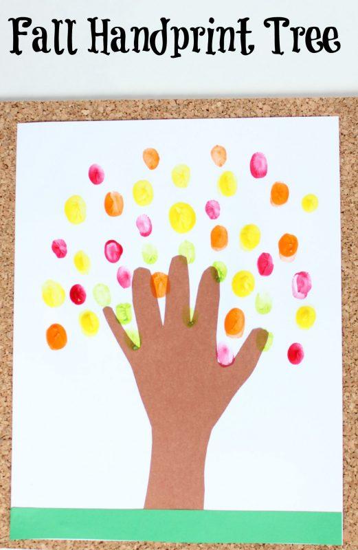 Fall Crafts for kids Handprint tree