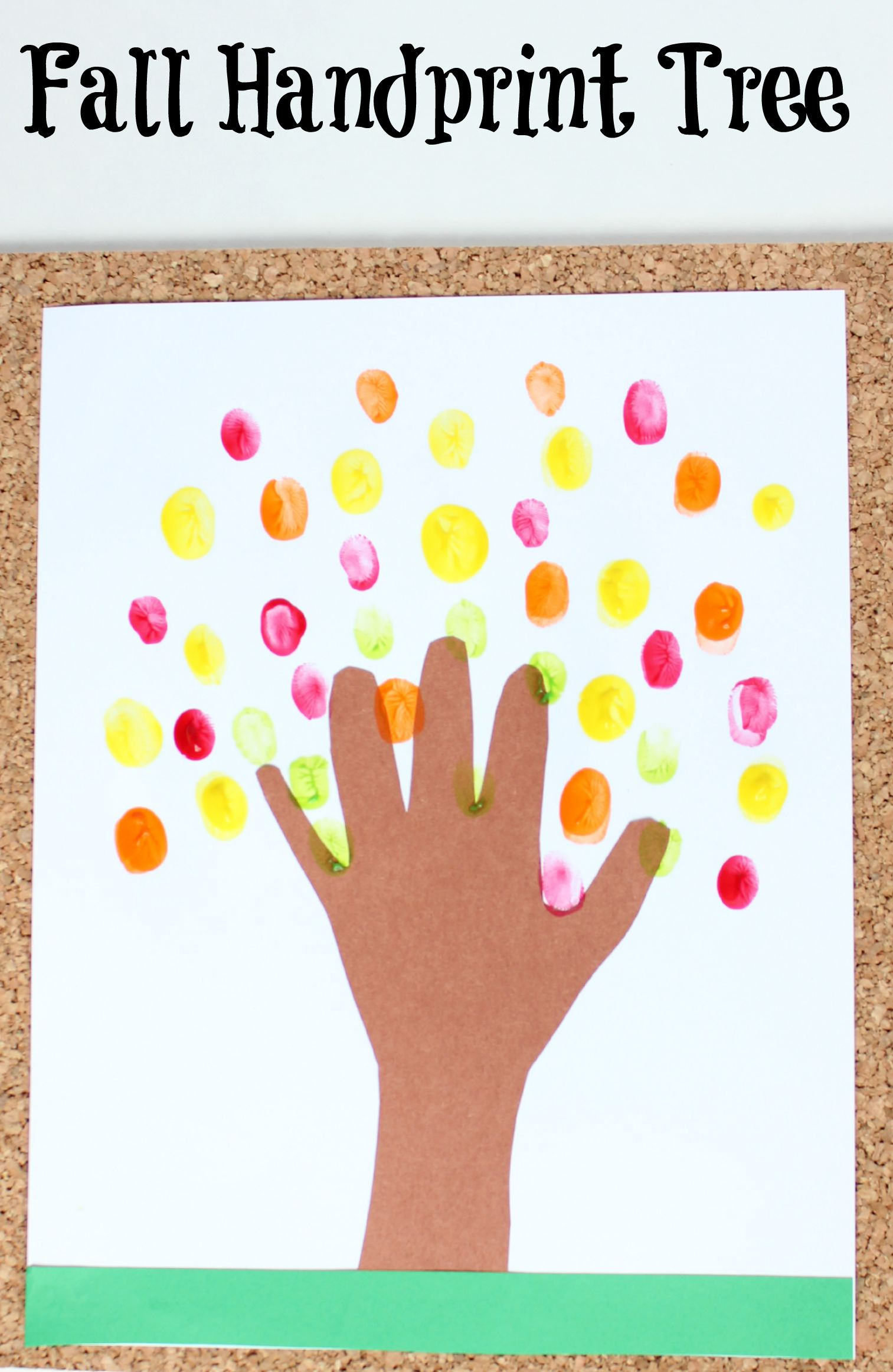 Fall Handprint Tree Craft Make And Takes