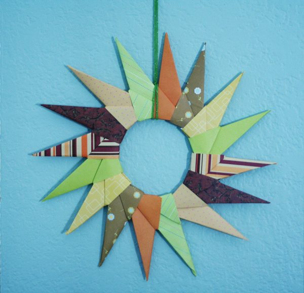 Origami Autumn Wreath