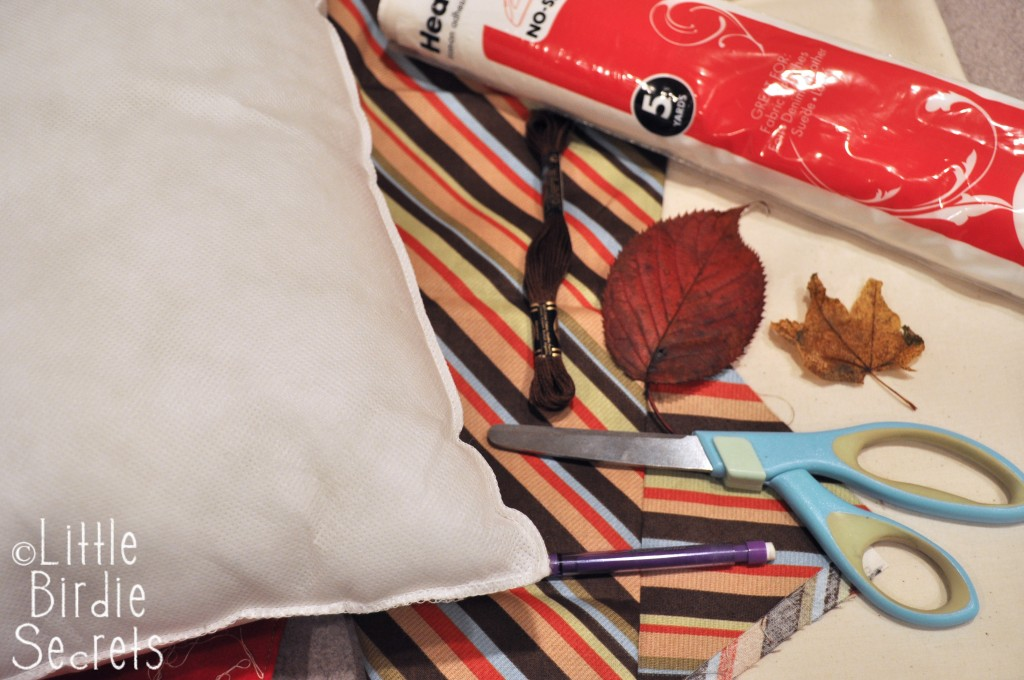 Embroidered Leaves Pillow Supplies