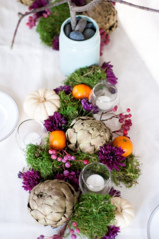 Colorful Thanksgiving Tablescape