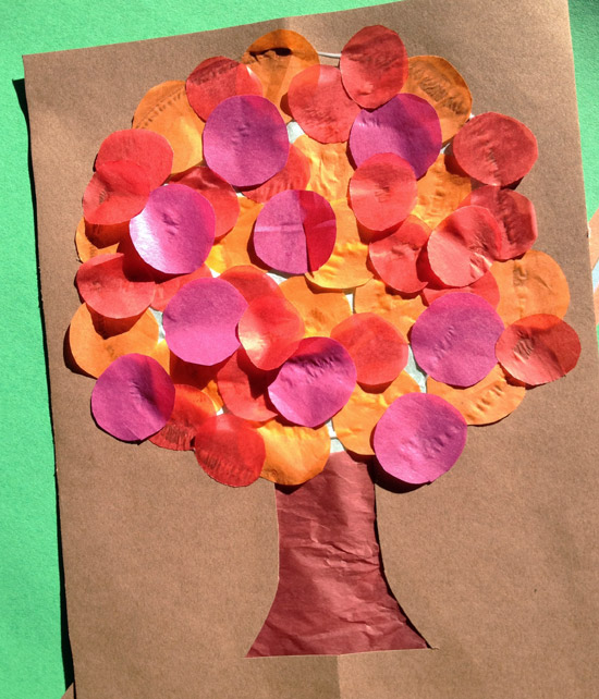 Fall Tissue Tree Art