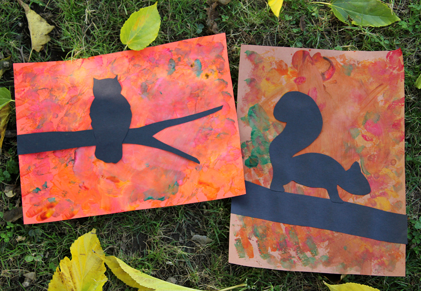 Fall Tree Silhouette Art Project Make And Takes