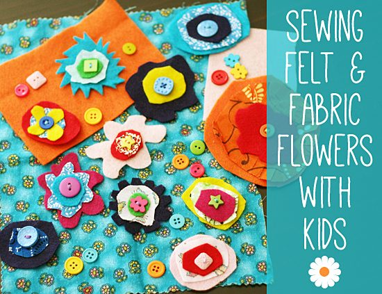 Felt Fabric Flowers