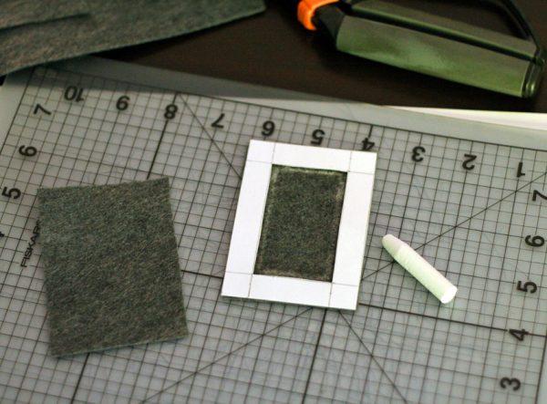 Making felt frame magnets with kids