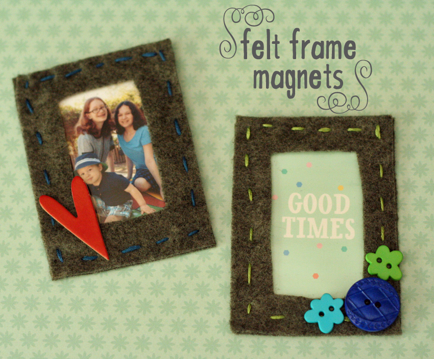 Magnetic Felt Frames With Photo Pockets Make And Takes