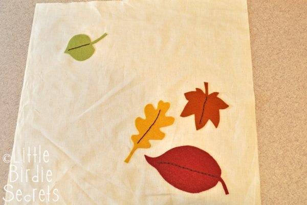 Stitching On Leaves
