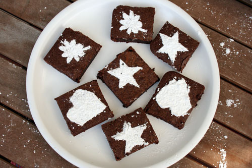 Creating Art with Stenciled Brownies