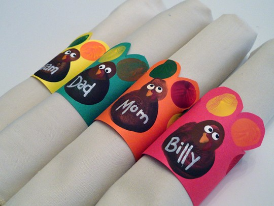Turkey Handprinted Napkin Rings By Make And Takes
