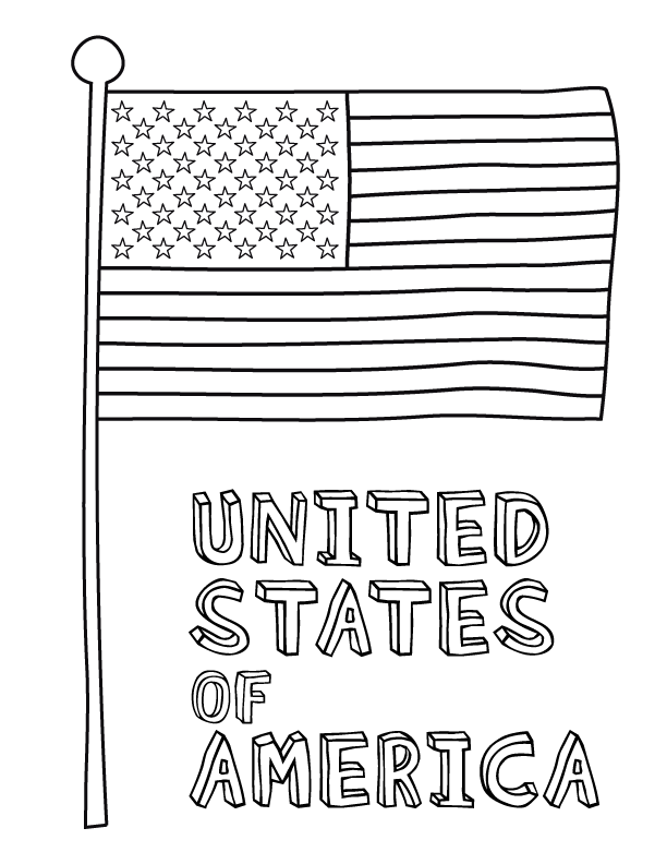 american flag coloring page - Flag Coloring Pages