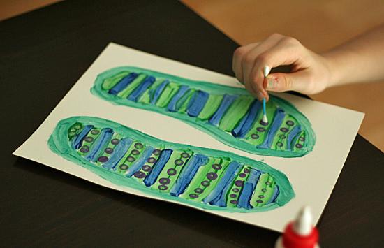Painting paper flip-flops
