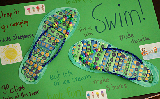 Crafty flip-flop summer poster