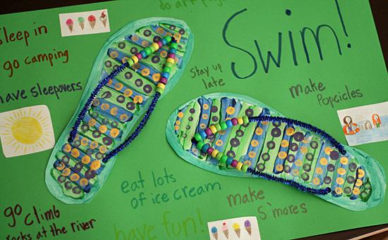 Crafty flip-flop summer poster