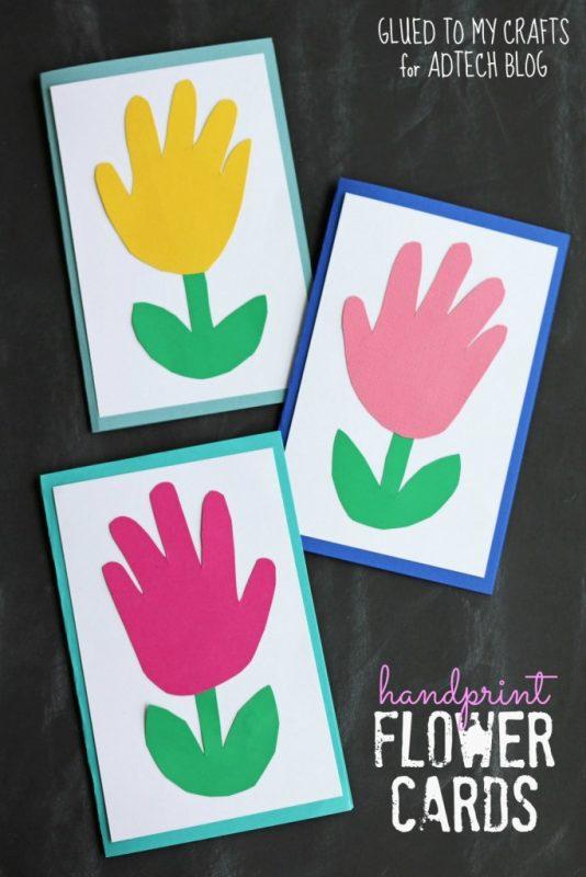 Handprint Flower Cards