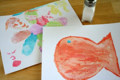 Salting Watercolor Pictures