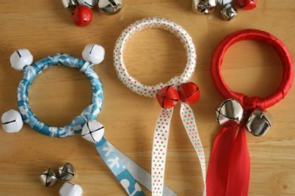 Jingle Bell Ribbon Rings