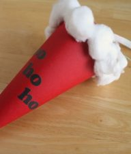 Santa Hat Paper Cone