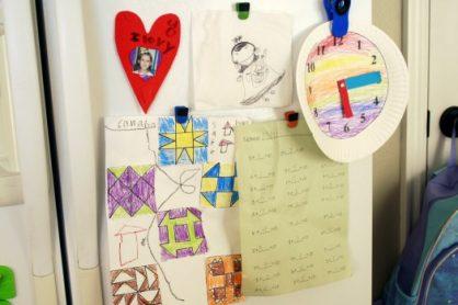 Artwork on the fridge