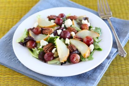 Roasted Pear and Grape Salad