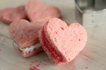 Heart Cookie Sandwich for Valentines
