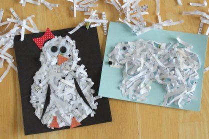 Paper Shredded Glitter Pictures