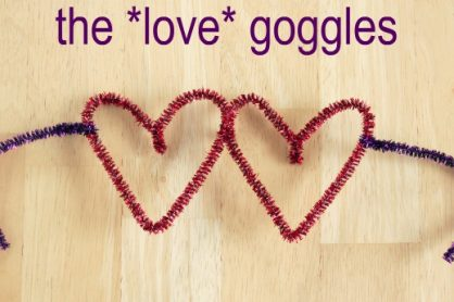Pipe Cleaner Heart Shaped Glasses