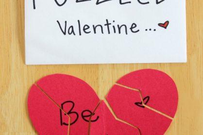 Mini Puzzle Valentine Cards