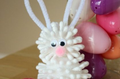 Easter Bunny Craft with Qtips