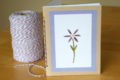 Handmade Journal from a Card for Mother's day