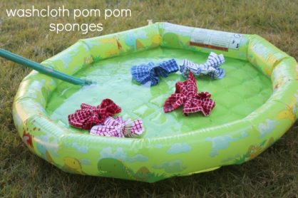 washcloth pom pom sponges how to