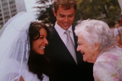 """Grandma Lambert"" on our wedding Day, August 2001"