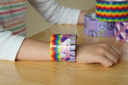 Colorful 3M Duct tape bracelet