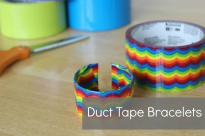 duct tape bracelets how-to video via makeandtakes.com
