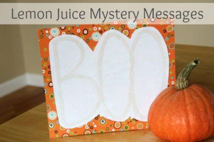 Lemon Juice Mystery Messages via makeandtakes.com
