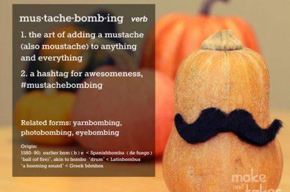 Mustache Bombing